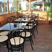 Outdoor enclosed dining area