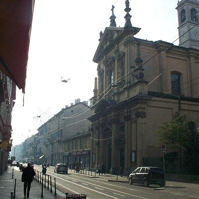 la chiesa di San Gottardo al Corso