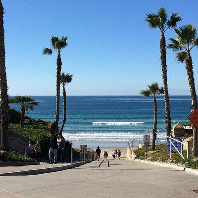 Walk down to the beach area