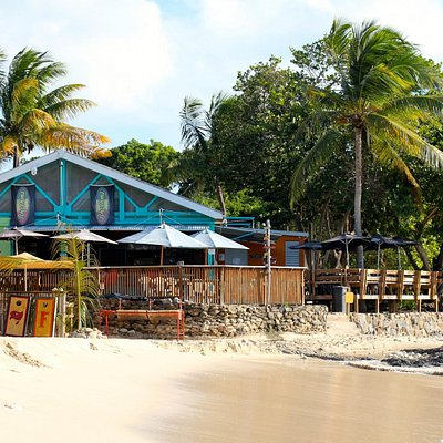 View from the water to the bar