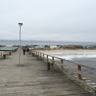 Cool wintery day on the pier. Our first visit