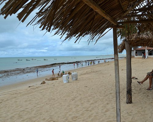 Barraquinha na beira da praia
