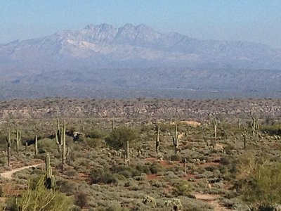 View from the trail of Four Peaks
