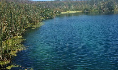 The pond for diving and snorkeling.