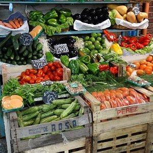 Verduras en Mercado del Progreso
