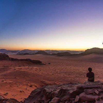 beautiful Sunset in Wadi Rum