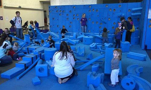 Foam play area inside museum