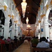inside te church
