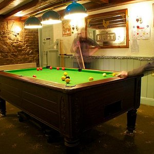 Having a game of pool