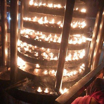 Place to keep lighted diyas