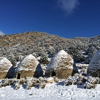 snow dusted kilns