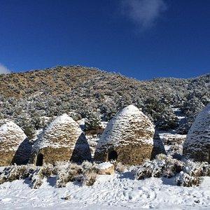 snow dusted kilns