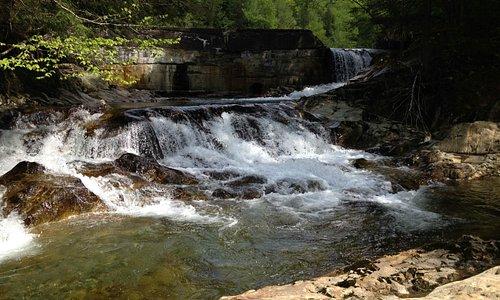 Bull Run Brook dam and waterfall