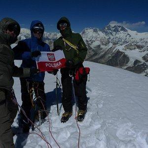 On top of Mera Peak