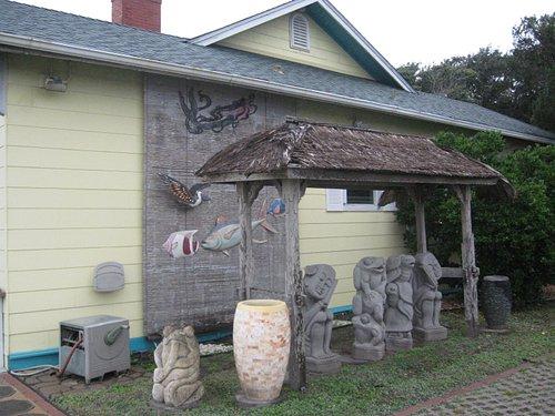 Statues outside