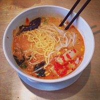 Spicy Miso Ramen (with extra Sriracha sauce)