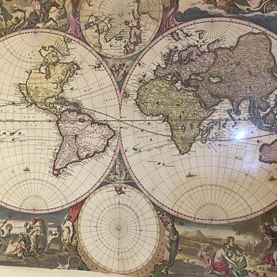 Mid-17th century map of the world