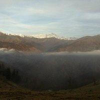 Panorama del Monte Rosa dalla Bocchetta di Margosio