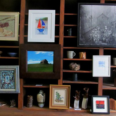 Front Gallery Space, original work of 160 artists displayed