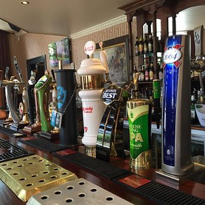 Some of the fine brew on tap