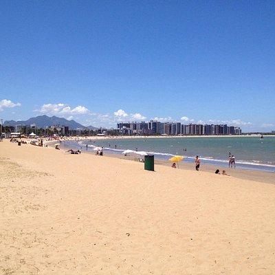 Lado esquerdo da praia, vista do ponto 1.