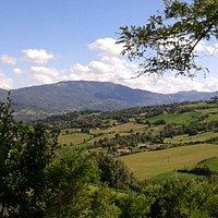 Vista della Valmarecchia da Vigiolo