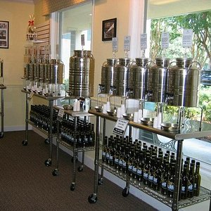 Gleaming stainless tanks keep our product fresh