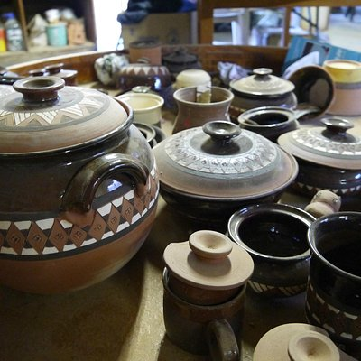 Pots made by the studio