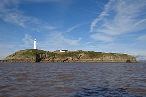 Flat Holm island from the boat