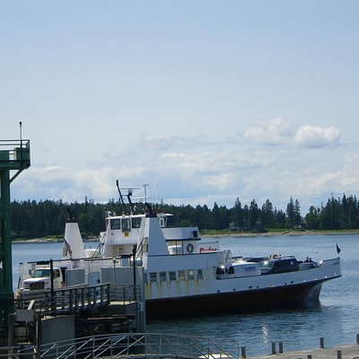 Ferry terminal at Bass Harbor for Swans Island.