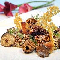 Risotto de quinoa y morillas