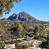 View of Camelback from Wrigley Mansion