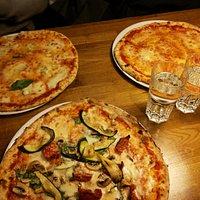 Quattro Formaggi, Margherita and Vegetariana