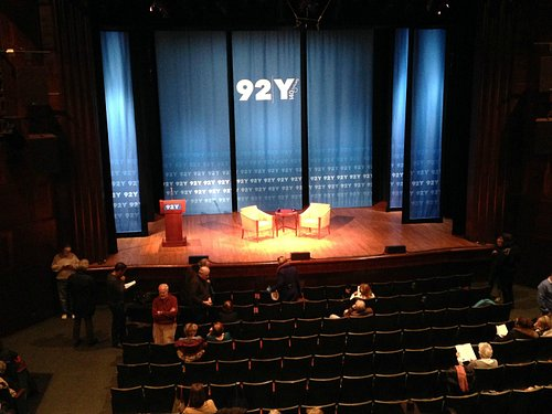 Stage of the 92nd Y auditorium