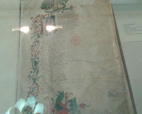 Raríssima cópia da Divina Comédia (século XIV)
