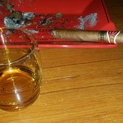 Good cigars and wide selection of whiskey