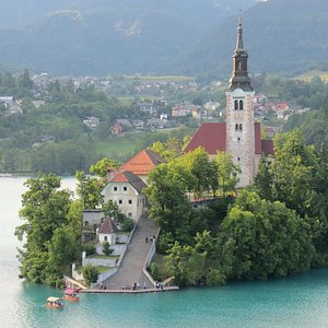 Bled Lake Island in early summer