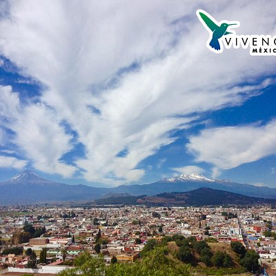 Cholula, Puebla ... Popocatepetl and Iztaccihuatl