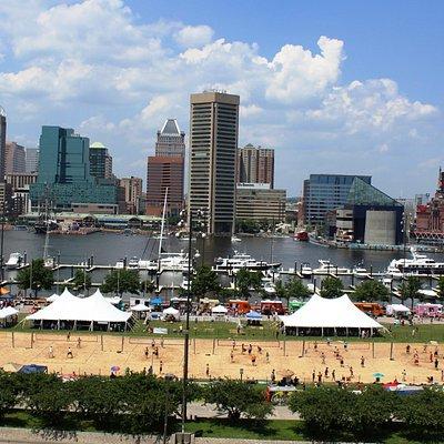 Baltimore Beach at the Inner Harbor