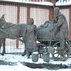 Казанский водовоз зимой