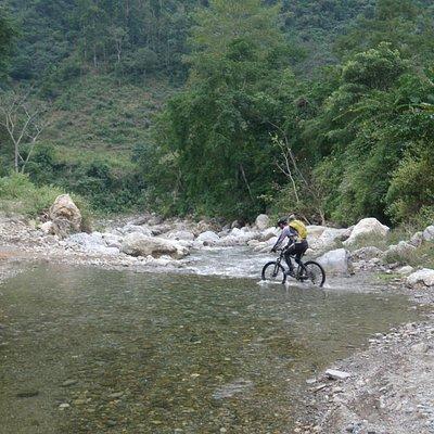 river crossing near the Seti River