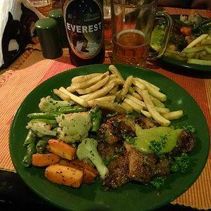 Uno de los platos del menú.