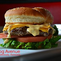 Our Signature Avenue Cheeseburger