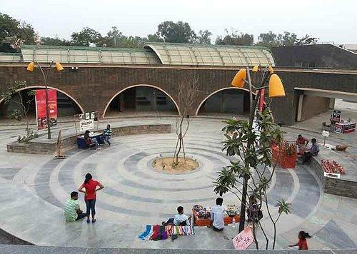 An open space at Dilli Haat Janakpuri