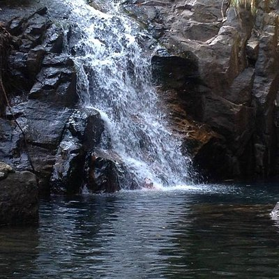 If there's water flowing you can swim right up to Nonsi Waterfall in Ko Chang, Thailand