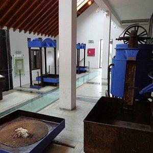Interior do museu do azeite
