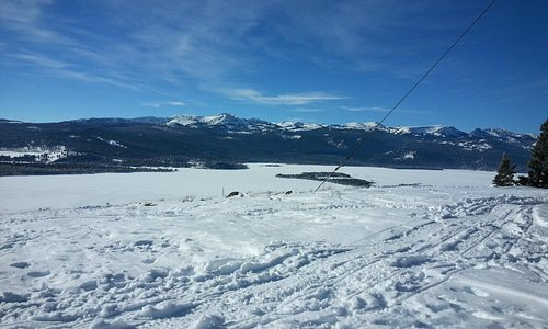 View of Hebgen Lake from Horse Butte Lookout 1-14-15.