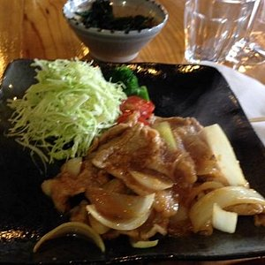 Shoga yaki Ginger pork at Eri's Kitchen