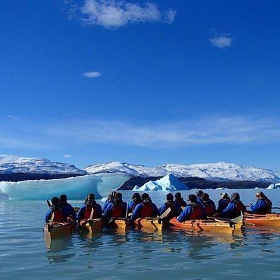 KAYAK en el Glaciar Upsala