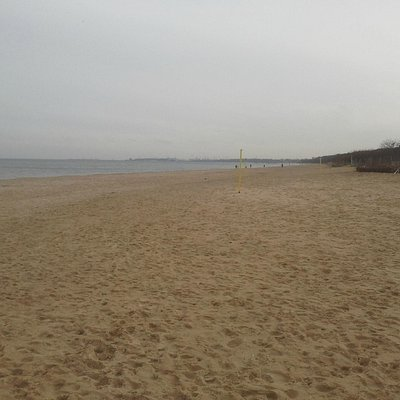 Der Strand Jelitkowo im Winter